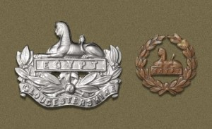 Cap badge of the Gloucestershire Regiment